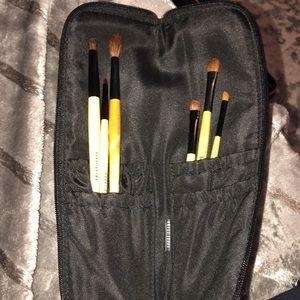 Bobbi Brown eye brushes snd carrying bag